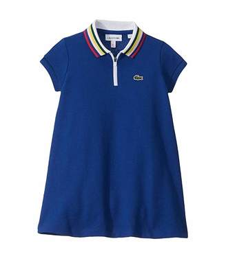 Lacoste Kids Semi Fancy Polo Dress with Zipper Collar (Toddler/Little Kids/Big Kids)