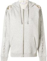 IRO laced sleeve hoodie