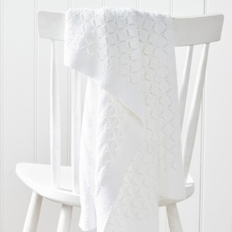 The White Company Heirloom White Baby Blanket, White, One Size