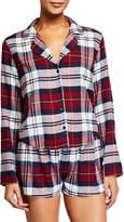 Rails Kellen Plaid Long-Sleeve Short Pajama Set