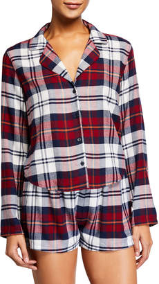 Rails Kellen Plaid Long-Sleeve Short Pajama Set