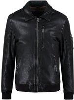 Oakwood Aircraft Leather Jacket Noir