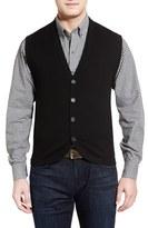 Cutter & Buck Men's Big & Tall Bosque Wool & Cashmere Sweater Vest