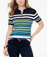 Tommy Hilfiger Cotton Striped Polo Top, Created for Macy's
