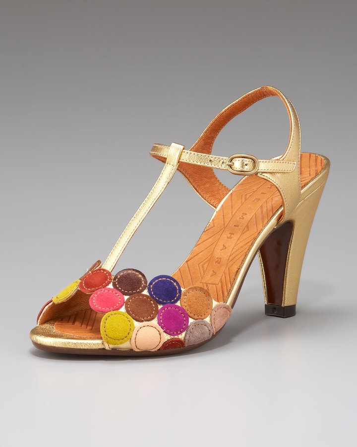 Chie Mihara Circle T-Strap Sandal