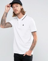 Asos Pique Polo Shirt With Tipped Collar And Logo In White