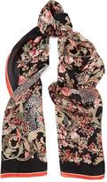 Roberto Cavalli Jean printed silk scarf
