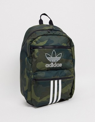 adidas camo backpack with 3 stripes