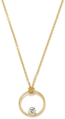 THE ALKEMISTRY 18kt Yellow Gold Floating Diamond Necklace