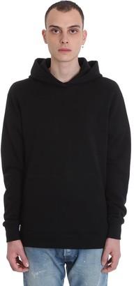 John Elliott Hooded Villian Sweatshirt In Black Cotton