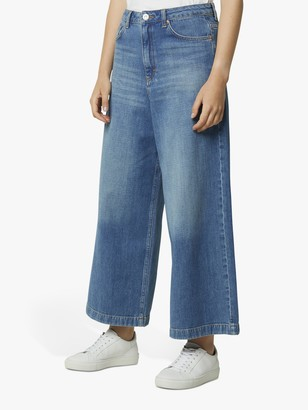 French Connection Reem Denim Culotte Jeans, Mid Vintage