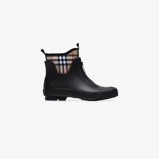 Burberry black Vintage check rain boots