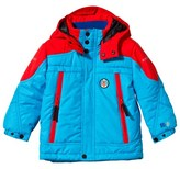 Poivre Blanc Blue and Red Embroidered Ski Jacket