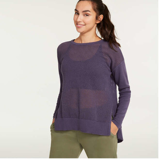 Joe Fresh Women's Back Slit Sweater, Pastel Purple (Size XL)