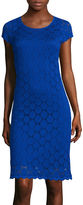 Ronni Nicole Cap-Sleeve Circle-Lace Sheath Dress