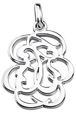 Tous Sterling Silver Small Rubric Pendant