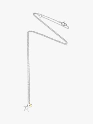 Estella Bartlett Double Star Pendant Necklace, Silver/Gold