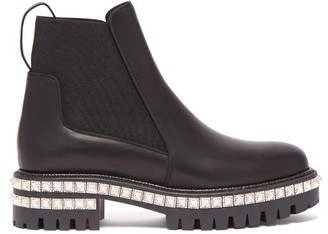 Christian Louboutin By The River Studded Leather Chelsea Boots - Black