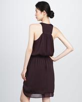 Rebecca Taylor Satin Racerback Dress