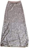 BCBGMAXAZRIA Azaria Matilda Sequin Taupe Maxi Skirt