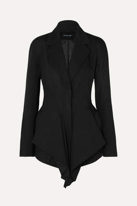 Thierry Mugler Draped Grain De Poudre Blazer - Black