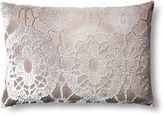 Kevin OBrien Large Lace 14x20 Velvet Pillow, Dove