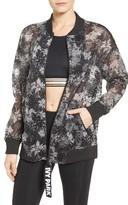 Ivy Park Women's Floral Mesh Bomber Jacket