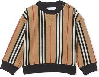 BURBERRY KIDS Icon striped relaxed-fit sweatshirt