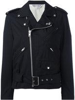 Comme des Garcons ruffled sleeves biker jacket - women - Wool - M