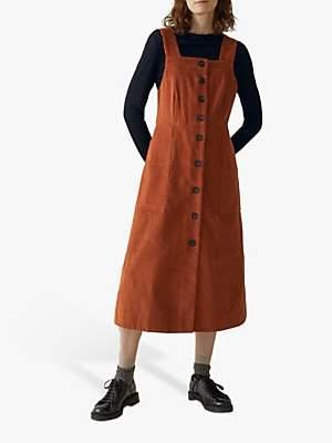 Toast Cord Pinafore Dress