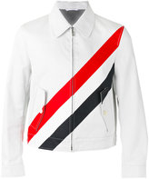 Thom Browne striped shirt jacket - men - Cotton/Polyester - 1