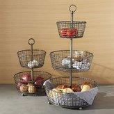 Crate & Barrel Bendt Tiered Iron Fruit Baskets