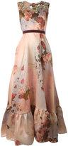Antonio Marras floral print gown