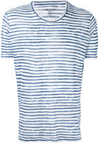 Majestic Filatures striped crewneck T-shirt - men - Linen/Flax - S