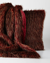 Sabira Wild Ostrich Faux-Fur Throw