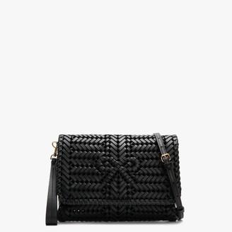 Anya Hindmarch Neeson Black Leather Woven Cross-Body Bag
