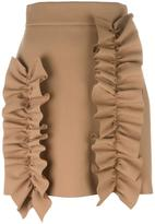 MSGM ruffled detail fitted skirt
