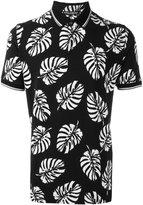 Dolce & Gabbana palm tree print polo shirt