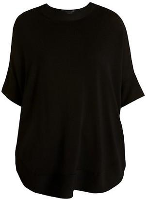 Marina Rinaldi, Plus Size Short-Sleeve Oversized Sweater