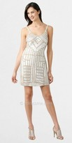Adrianna Papell Geometric Scoop Necked Cocktail Dresses