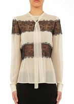 Philosophy Di Lorenzo Serafini Ivory And Lace Blouse