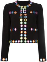 Moschino mirror embroidered jacket - women - Polyester/Rayon/Triacetate - 46