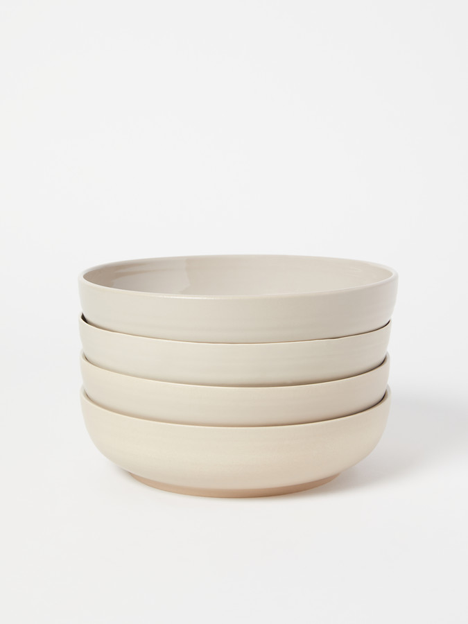 Hawkins New York Shaker Stoneware Low Bowl, Set of 4