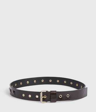 AllSaints Lita Skinny Leather Belt