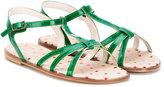 Pépé T-bar buckle sandals - kids - Leather/Patent Leather - 26