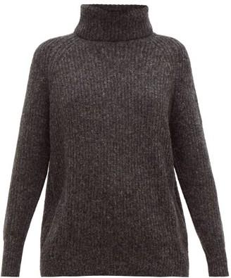 Nili Lotan Douglass Roll-neck Sweater - Womens - Dark Grey