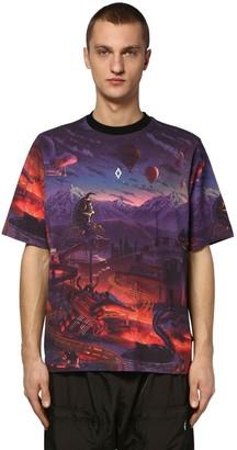 Marcelo Burlon County of Milan Printed Fantasy Over Jersey T-Shirt