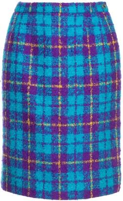 Céline Pre Owned Checked High Waisted Skirt