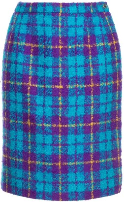Céline Pre-Owned Checked High Waisted Skirt