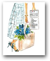 """The Well Appointed House """"How to Have a Lovely Day"""" Colorful Flower Art Print"""